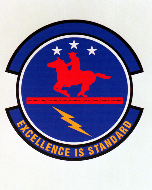 Patch designed and shot at MAXWELL AIR FORCE BASE, ALABAMA, USA - AIR FORCE ORGANIZATIONAL EMBLEMS - 1995...66th Mission Support Squadron - Exact date shot unknown. Air Force Historical Research Agency, 95-250