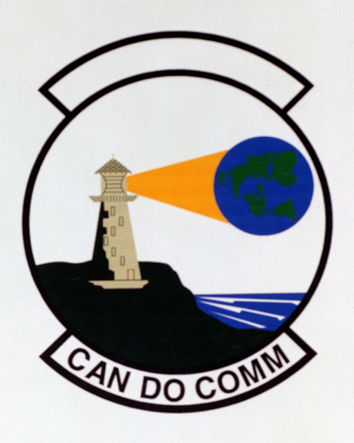 Patch designed and shot at MAXWELL AIR FORCE BASE, ALABAMA, USA - AIR FORCE ORGANIZATIONAL EMBLEMS - 1995...265th Combat Communications Squadron - Exact date shot unknown. Air Force Historical Research Agency, 95-251