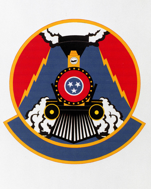 Patch designed and shot at MAXWELL AIR FORCE BASE, ALABAMA, USA - AIR FORCE ORGANIZATIONAL EMBLEMS - 1995...214th Electronic Installation Squadron - Exact date shot unknown. Air Force Historical Research Agency, 95-231