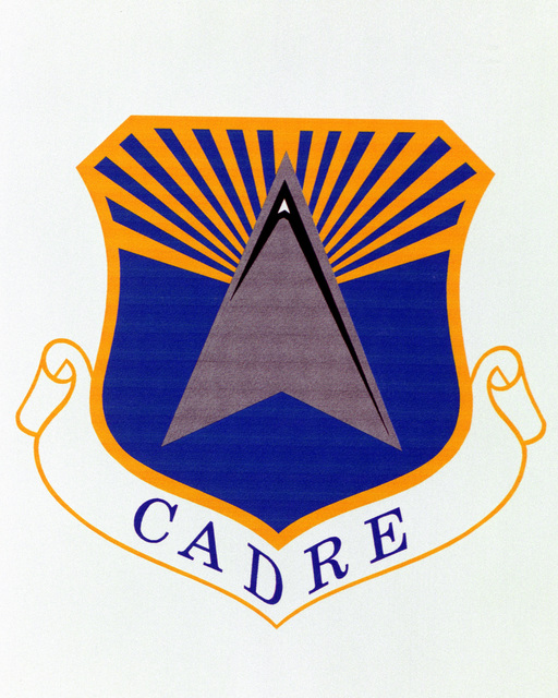 Patch designed and shot at MAXWELL AIR FORCE BASE, ALABAMA, USA - AIR FORCE ORGANIZATIONAL EMBLEMS - 1995...CADRE - Exact date shot unknown. Air Force Historical Research Agency, 95-239