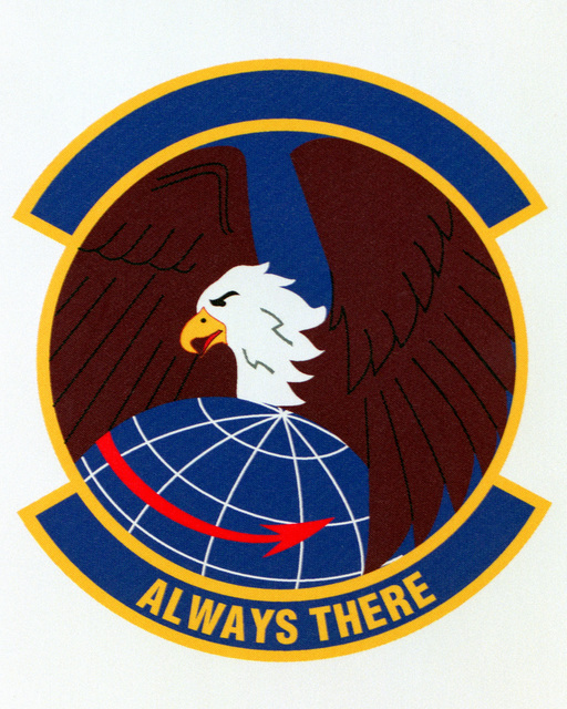 Patch designed and shot at MAXWELL AIR FORCE BASE, ALABAMA, USA - AIR FORCE ORGANIZATIONAL EMBLEMS - 1995...22nd Operations Support Squadron - Exact date shot unknown. Air Force Historical Research Agency, 95-240