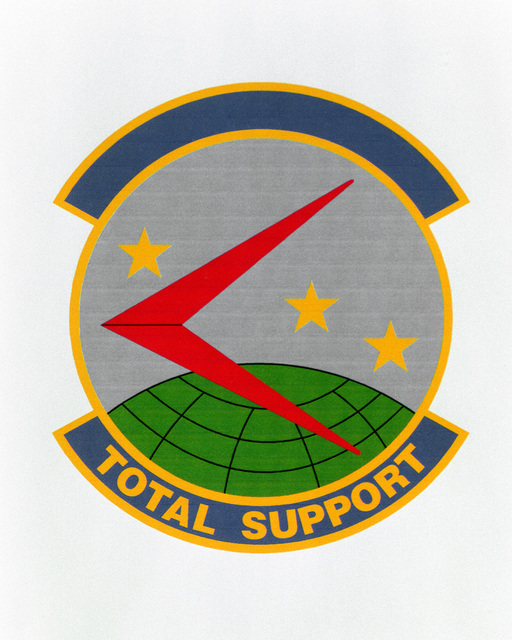 Patch designed and shot at MAXWELL AIR FORCE BASE, ALABAMA, USA - AIR FORCE ORGANIZATIONAL EMBLEMS - 1995...439th Logistics Support Squadron - Exact date shot unknown. Air Force Historical Research Agency, 95-234