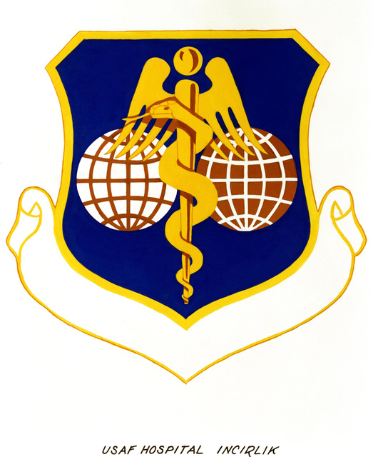 Approved insignia for: US Air Force Hospital, Incirlik