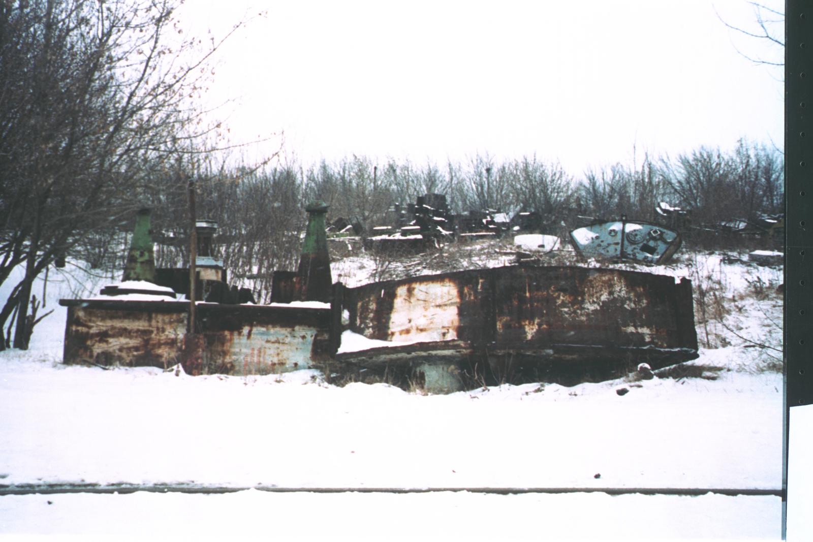 Ukraine - WMD Dismantlement - April 1995 - Inspection team visit to various ruins of former Soviet Union (FSU) Weapons of Mass Destruction (WMD) production facilities