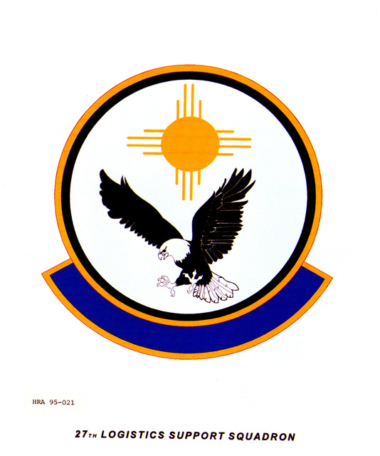 Approved Insignia for the 27th Logistics Support Squadron. Exact Date Shot Unknown