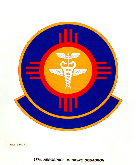 Approved Insignia for the 377th Aerospace Medicine Squadron. Exact Date Shot Unknown