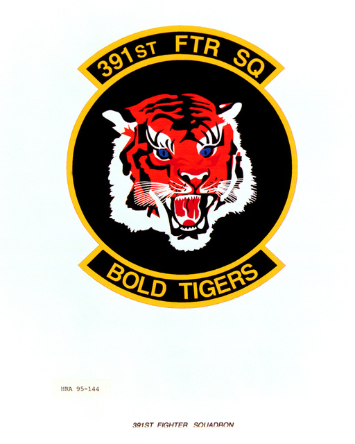 Approved Insignia for the 391st Fighter Squadron. Exact Date Shot Unknown