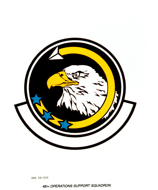 Approved Insignia for the 48th Operations Support Squadron. Exact Date Shot Unknown