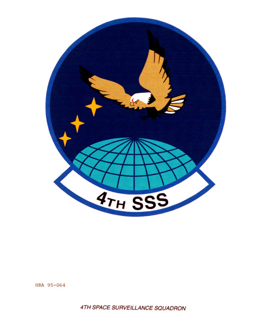 Approved Insignia for the 4th Space Surveillance Squadron. Exact Date Shot Unknown