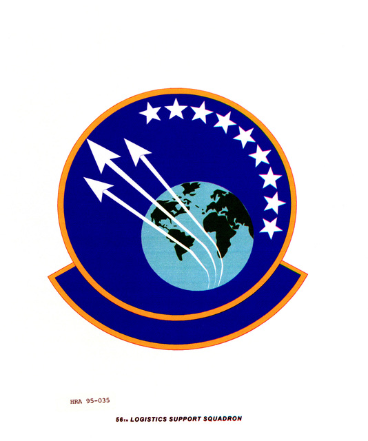 Approved Insignia for the 56th Logistics Support Squadron. Exact Date Shot Unknown