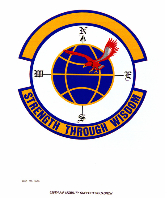 Approved Insignia for the 628th Air Mobility Support Squadron. Exact Date Shot Unknown