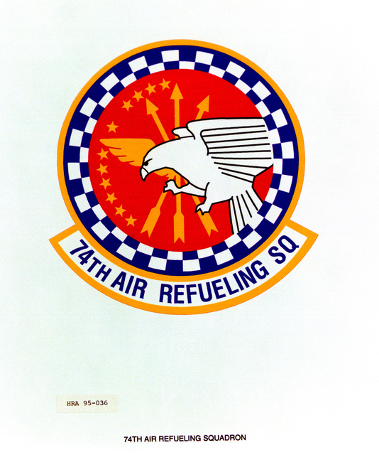 Approved Insignia for the 74th Air Refueling Squadron. Exact Date Shot Unknown