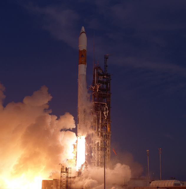A Lockheed Martin Corp. Atlas II/AC-118 Expendable Launch Vehicle is successfully launched from Cape Canaveral Air Station at 7:30 PM EDT. The Atlas II/AC-118 is carrying a Department of Defense Payload into orbit
