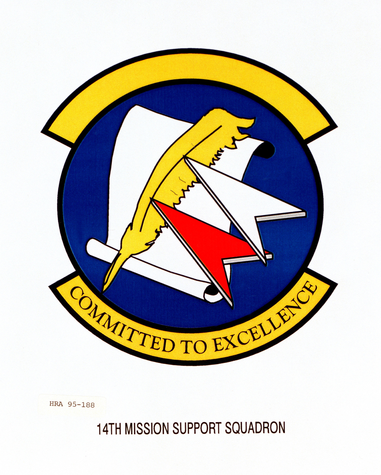 Approved Insignia for the 14th Mission Support Squadron. Exact Date Shot Unknown