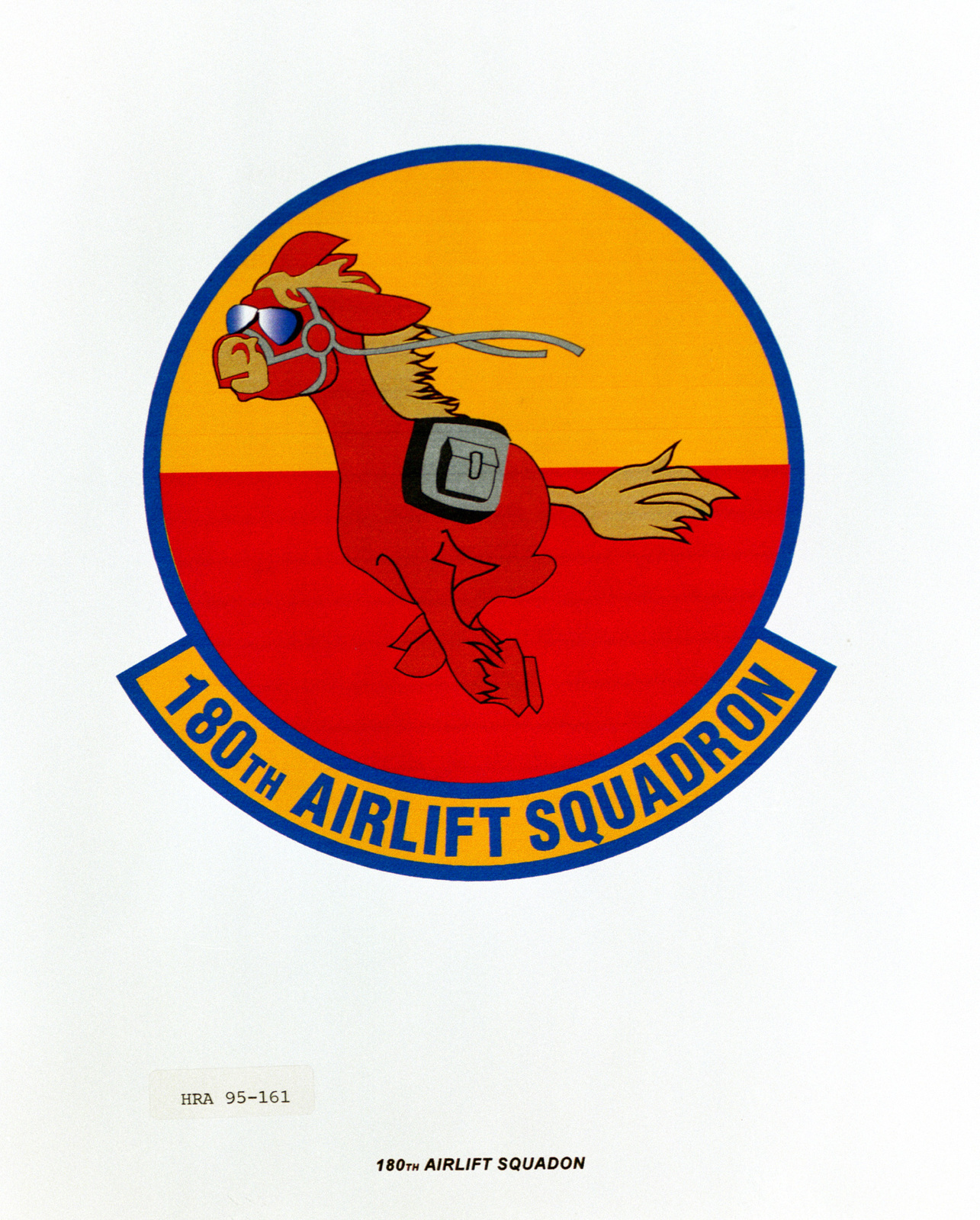 Approved Insignia for the 180th Airlift Squadron. Exact Date Shot Unknown