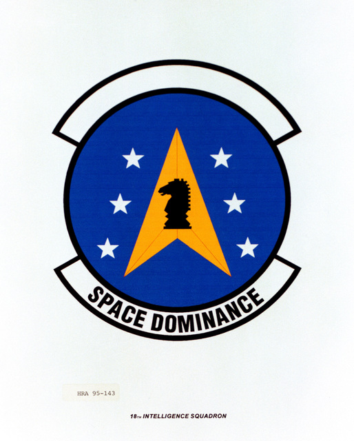 Approved Insignia for the 18th Intelligence Squadron. Exact Date Shot Unknown