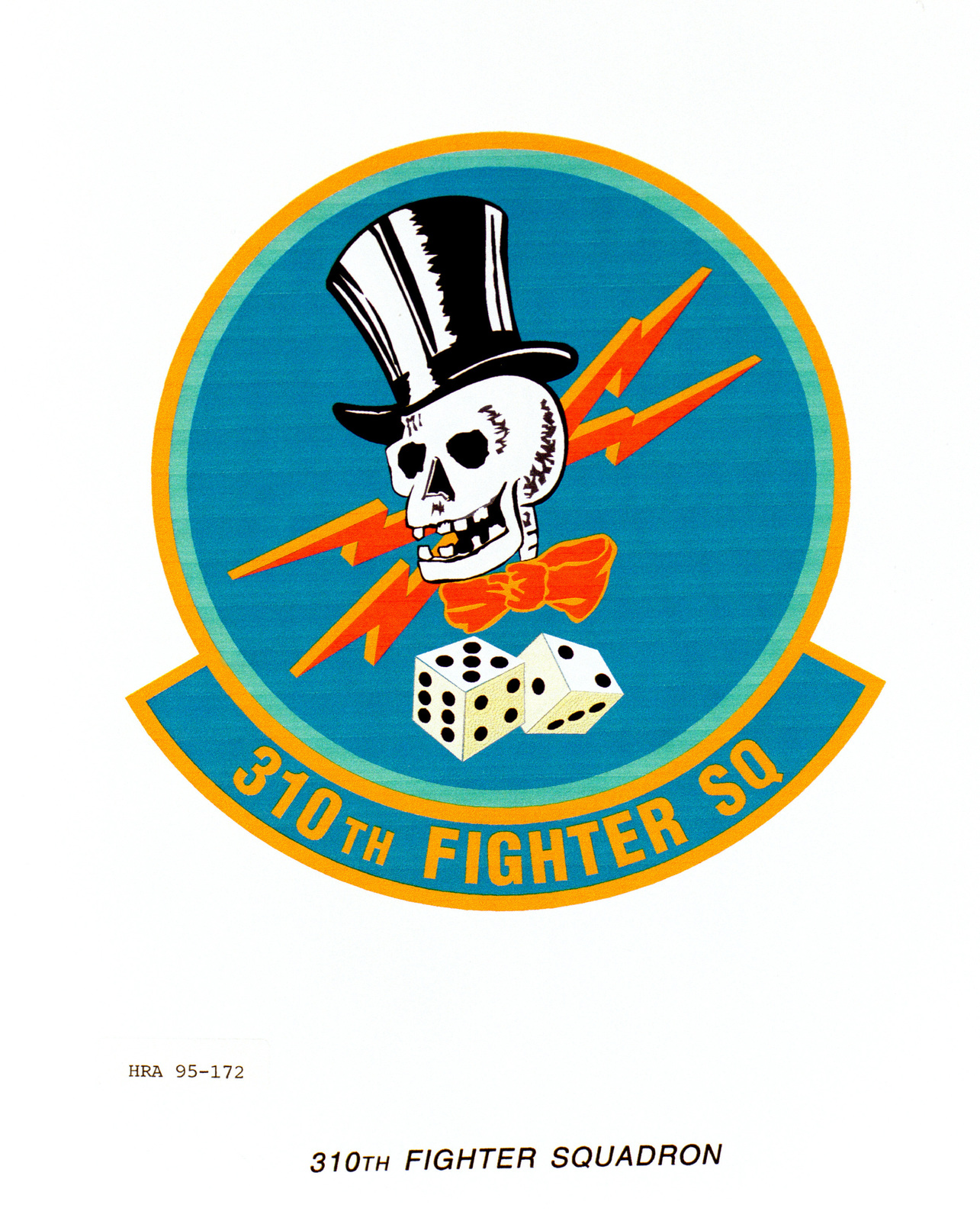 Approved Insignia for the 310th Fighter Squadron. Exact Date Shot Unknown