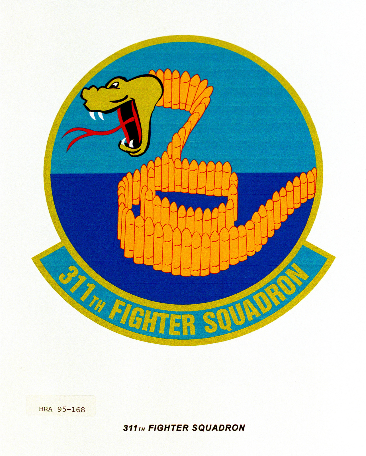 Approved Insignia for the 311th Fighter Squadron. Exact Date Shot Unknown