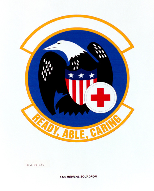 Approved Insignia for the 442nd Medical Squadron. Exact Date Shot Unknown