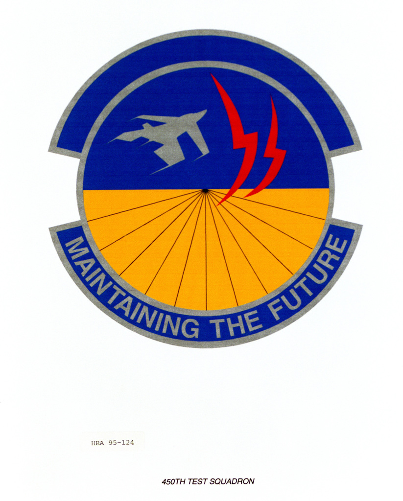 Approved Insignia for the 450th Test Squadron. Exact Date Shot Unknown
