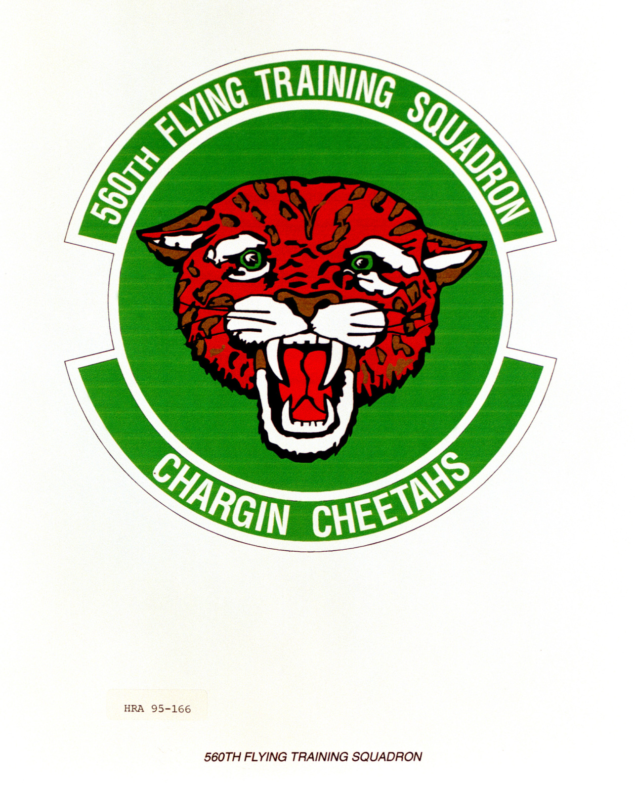 Approved Insignia for the 560th Flying Training Squadron. Exact Date Shot Unknown