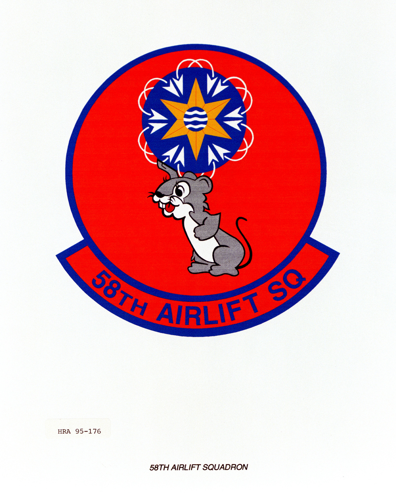 Approved Insignia for the 58th Airlift Squadron. Exact Date Shot Unknown
