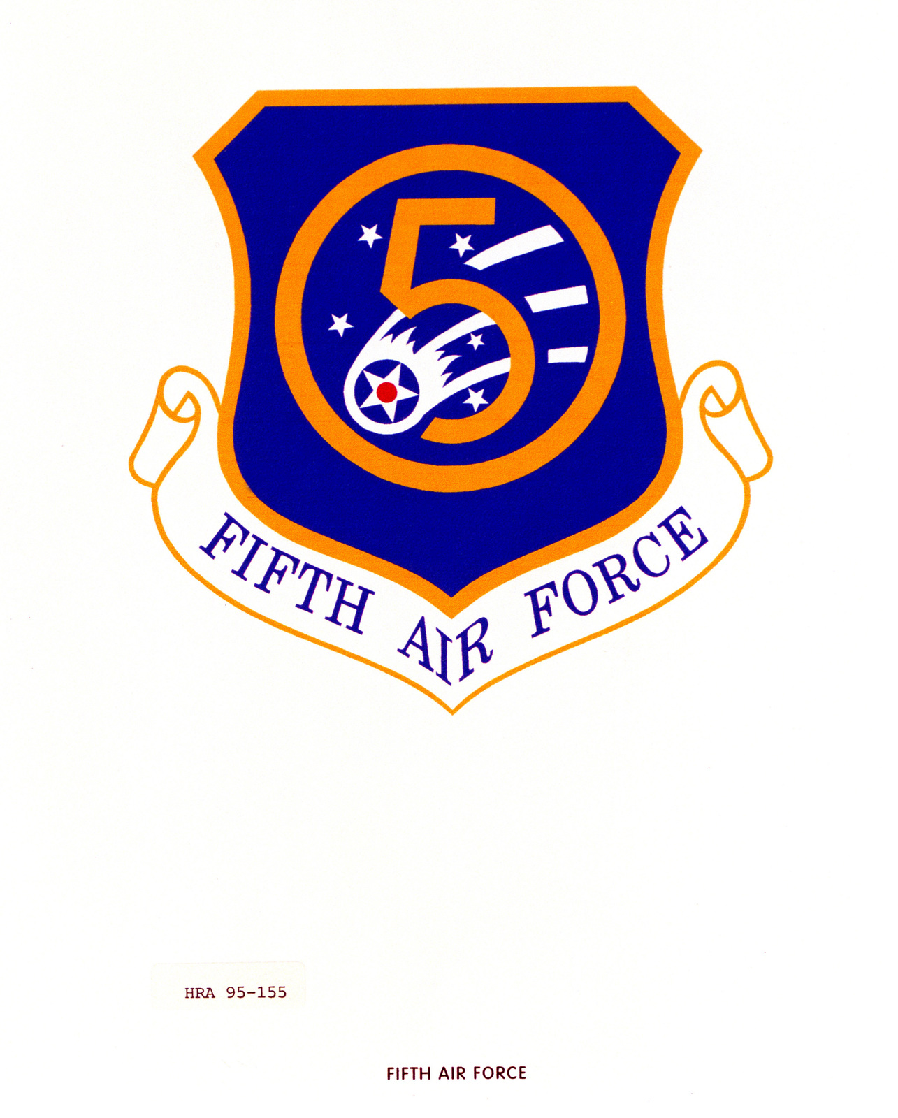 Approved Insignia for the 5th Air Force. Exact Date Shot Unknown