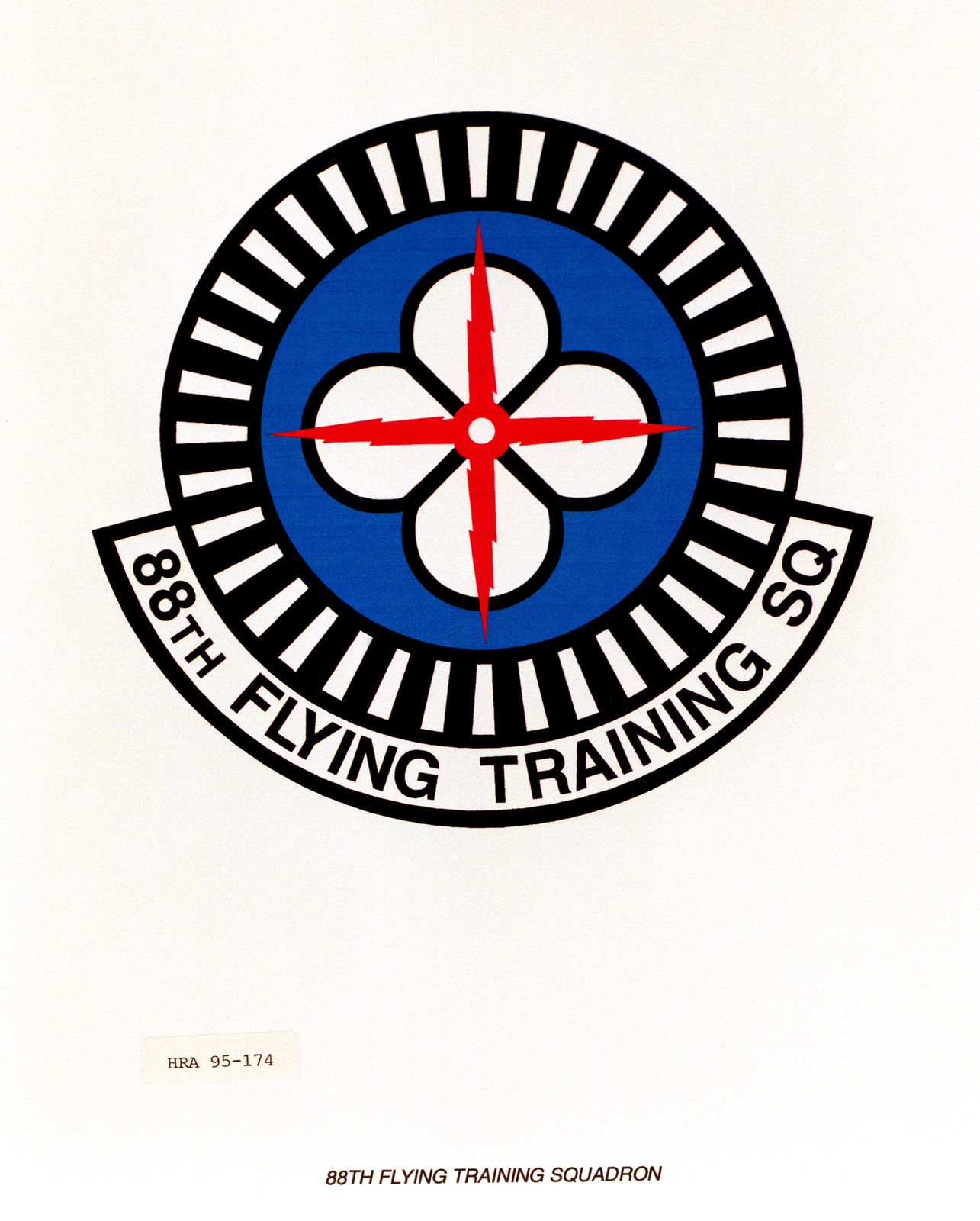 Approved Insignia for the 88th Flying Training Squadron. Exact Date Shot Unknown