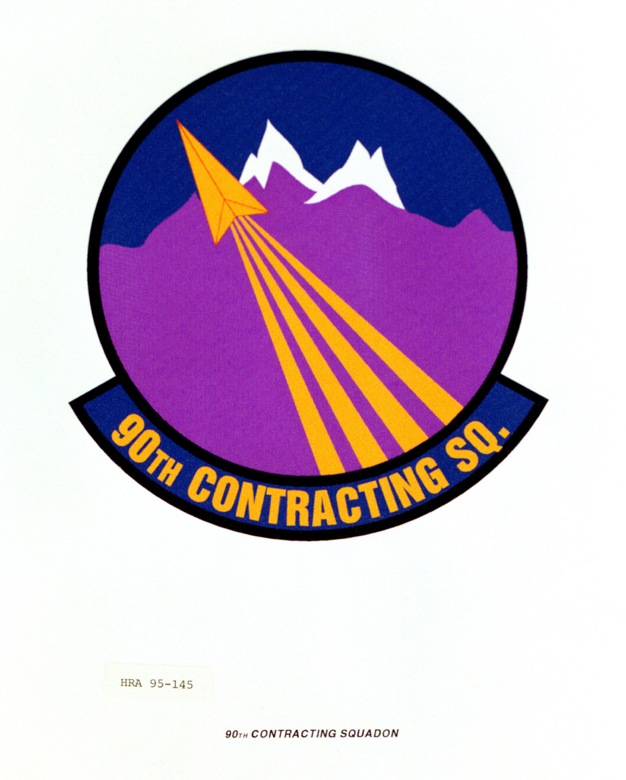 Approved Insignia for the 90th Contracting Squadron. Exact Date Shot Unknown