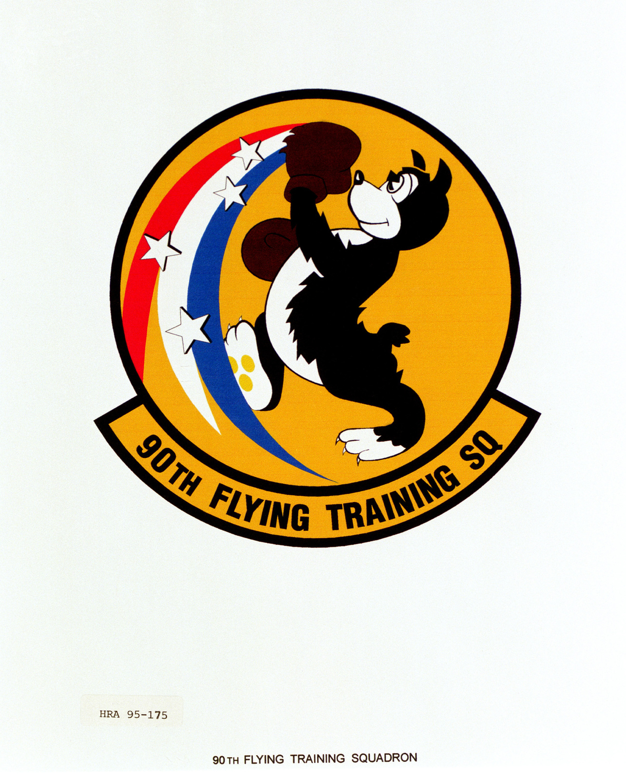 Approved Insignia for the 90th Flying Training Squadron. Exact Date Shot Unknown