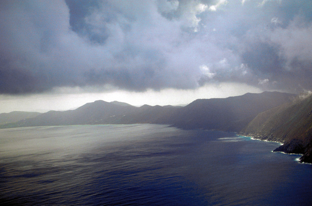 After Hurricane Marilyn passed over the Virgin Islands, dark clouds and storms hung over the islands for another week