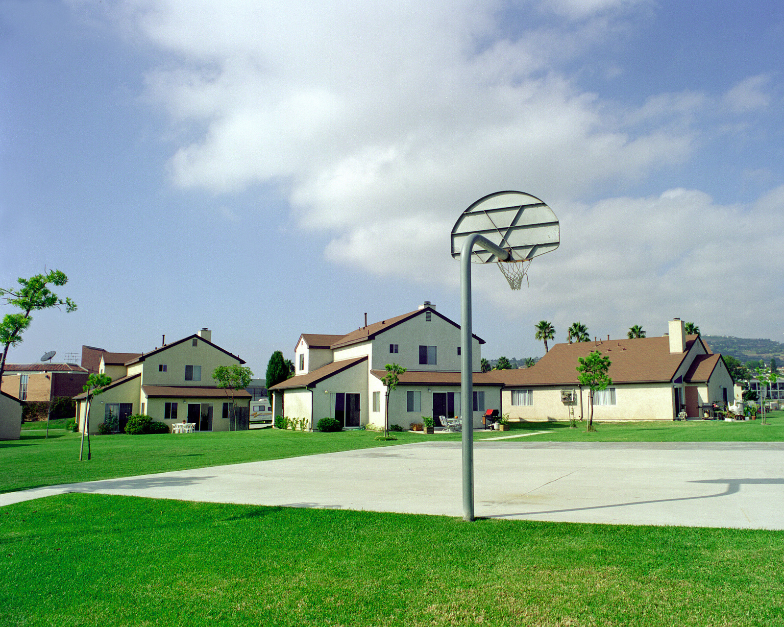 Officer housing located 20 miles south of Los Angeles Air Force Base in San Pedro, California. The housing area overlooks the Pacific Ocean