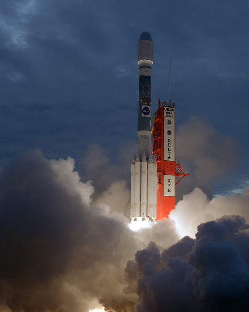 A McDonnell Douglas Delta II Space Lift Vehicle successfully carried the NASA X-ray Timing Explorer (XTE) into orbit. The Delta II lifted off Complex 17A, Cape Canaveral Air Station, at 0848 hrs, EST