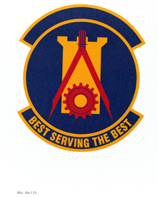 Air Force Organizational Emblem. 14th Civil Engineer Squadron Exact Date Shot Unknown