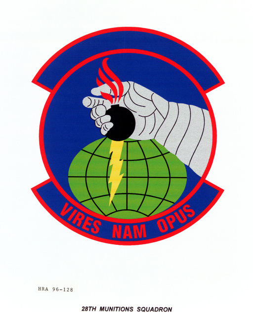 Air Force Organizational Emblem. 28th Munitions Squadron Exact Date Shot Unknown