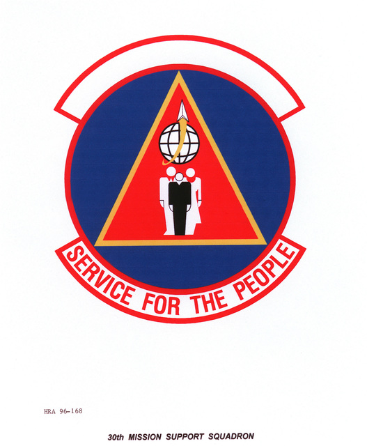 AIR FORCE ORGANIZATIONAL EMBLEM 30th Mission Support Squadron Exact Date Shot Unknown