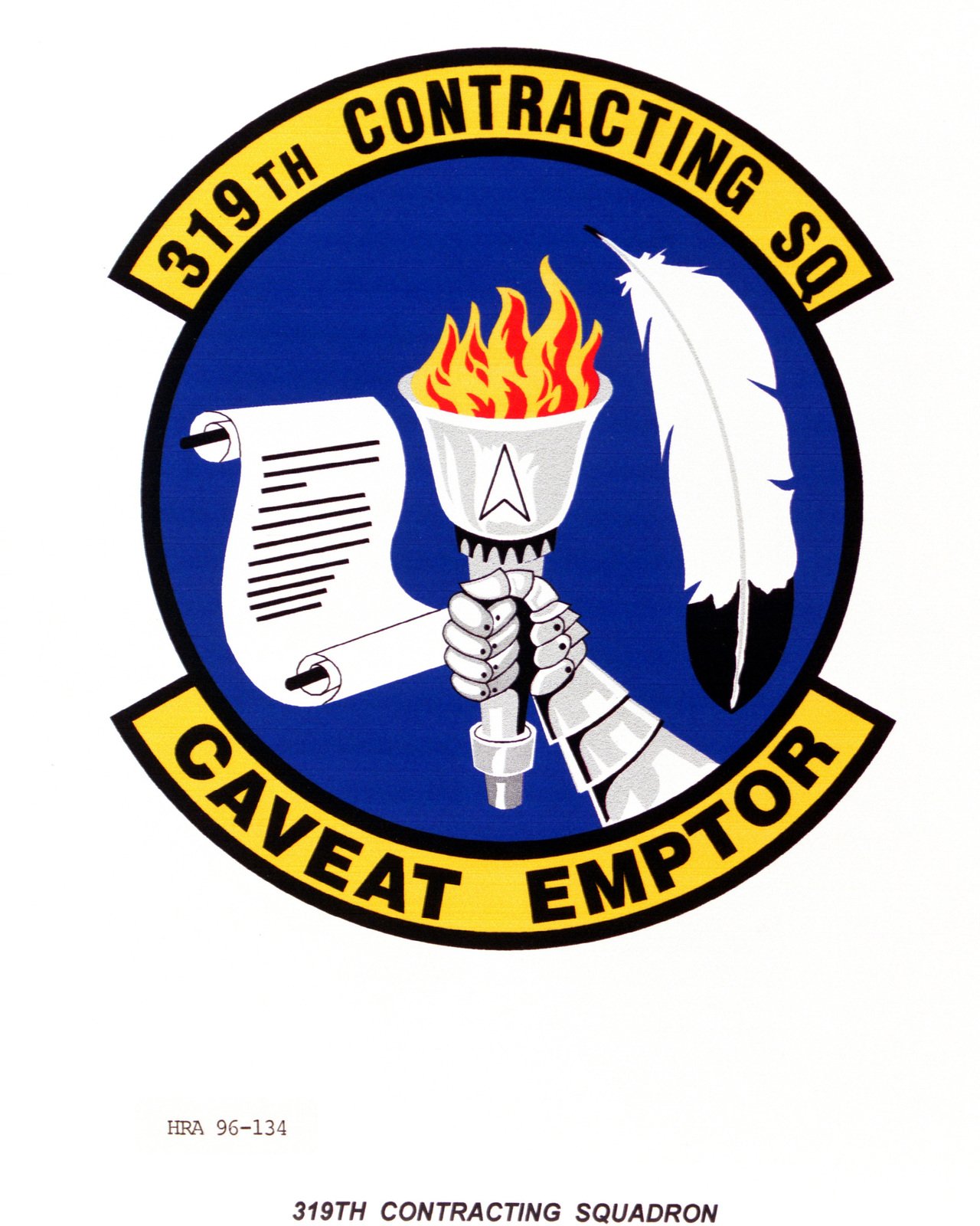 Air Force Organizational Emblem. 319th Contracting Squadron Exact Date Shot Unknown