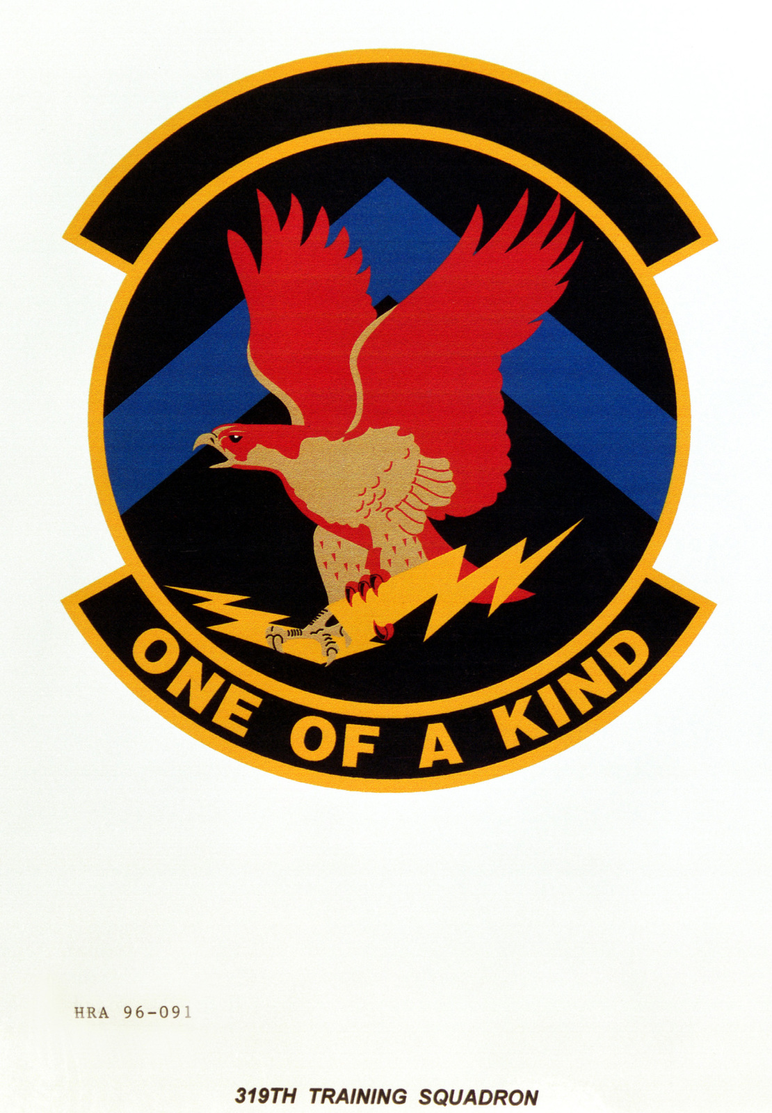 Air Force Organizational Emblem. 319th Training Squadron Exact Date Shot Unknown
