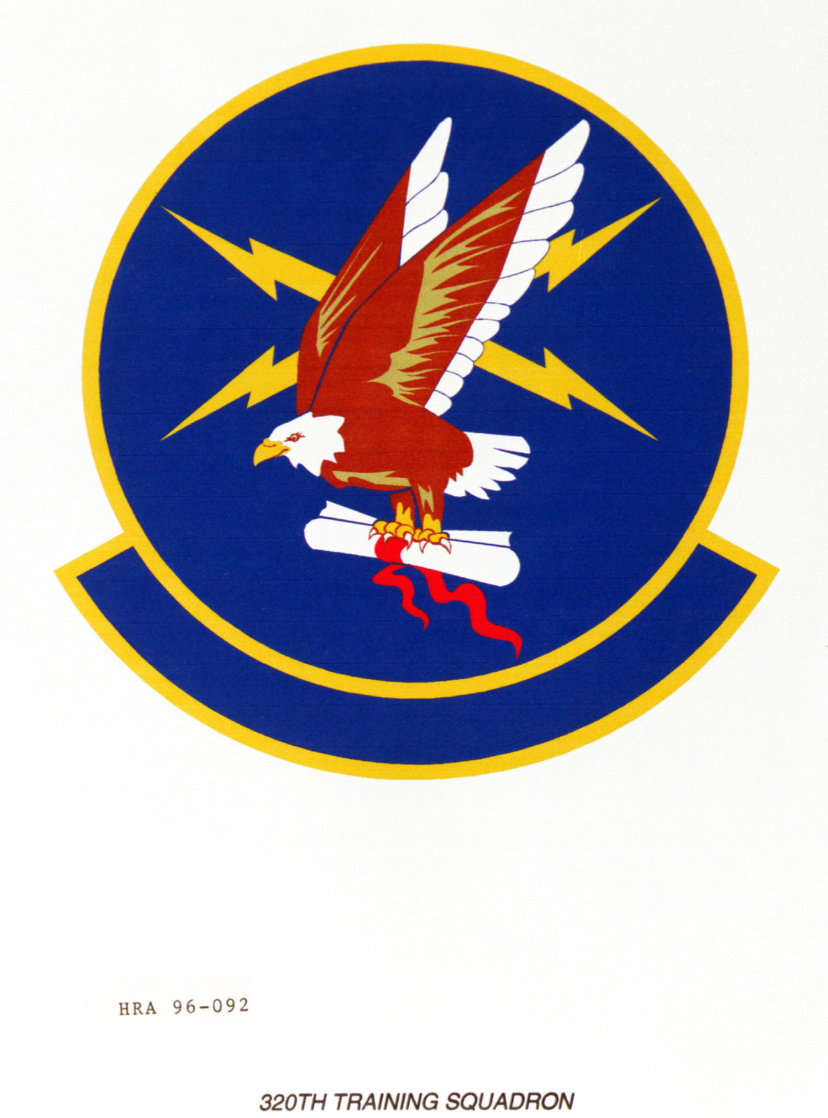 Air Force Organizational Emblem. 320th Training Squadron Exact Date Shot Unknown