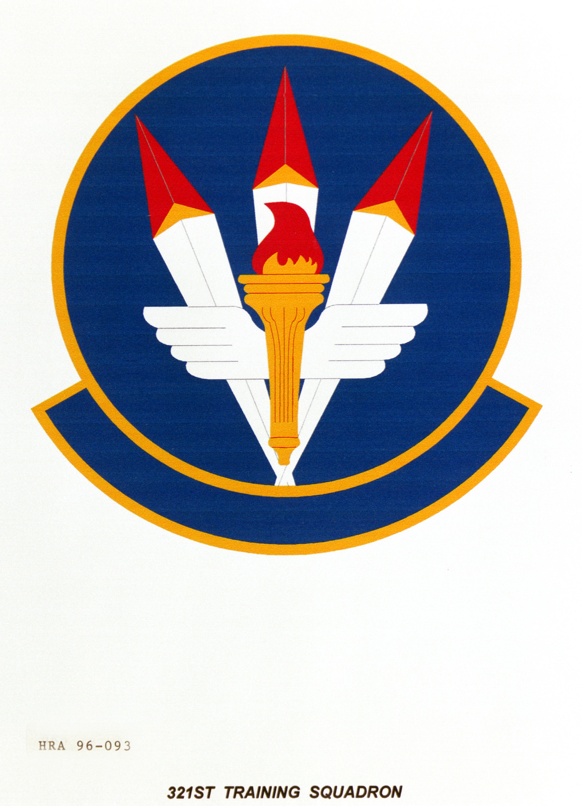 Air Force Organizational Emblem. 321st Training Squadron Exact Date Shot Unknown