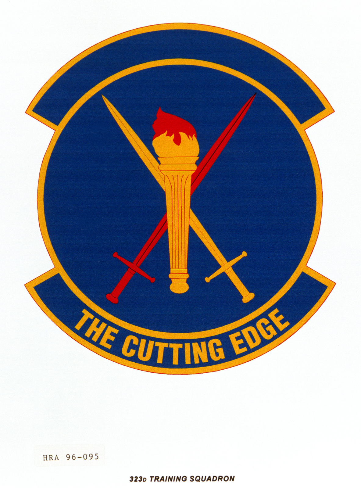 Air Force Organizational Emblem. 323rd Training Squadron Exact Date Shot Unknown