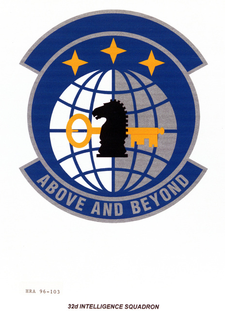 Air Force Organizational Emblem. 32nd Intelligence Squadron Exact Date Shot Unknown