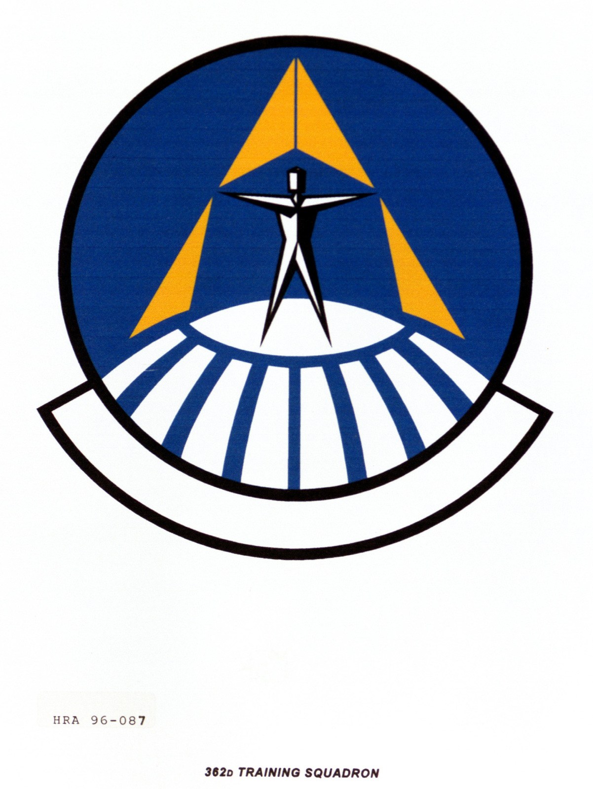 Air Force Organizational Emblem. 362nd Training Squadron Exact Date Shot Unknown