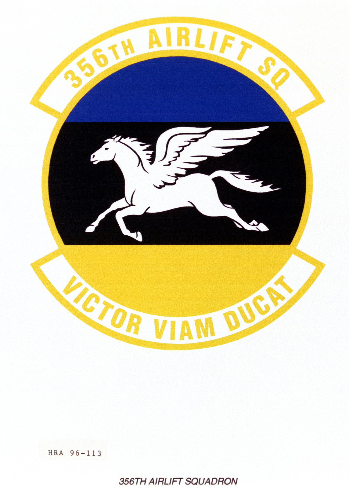 Air Force Organizational Emblem. 365th Airlift Squadron Exact Date Shot Unknown