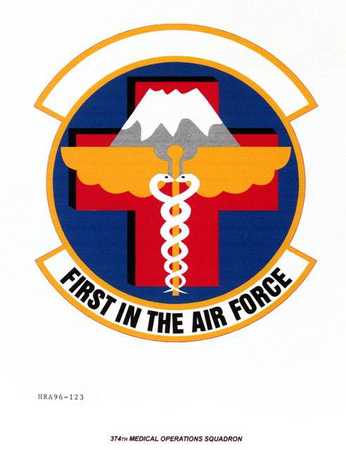 Air Force Organizational Emblem. 374th Medical Operations Squadron Exact Date Shot Unknown