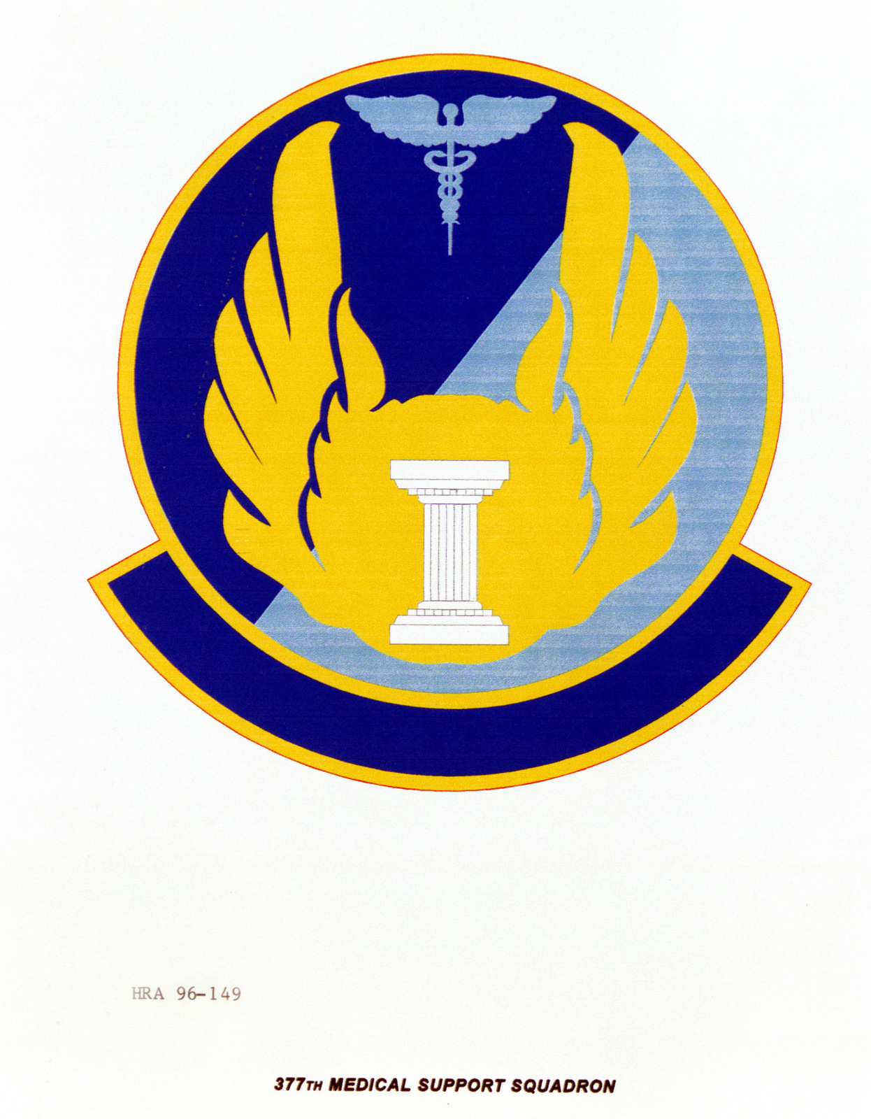 Air Force Organizational Emblem. 377th Medical Support Squadron Exact Date Shot Unknown