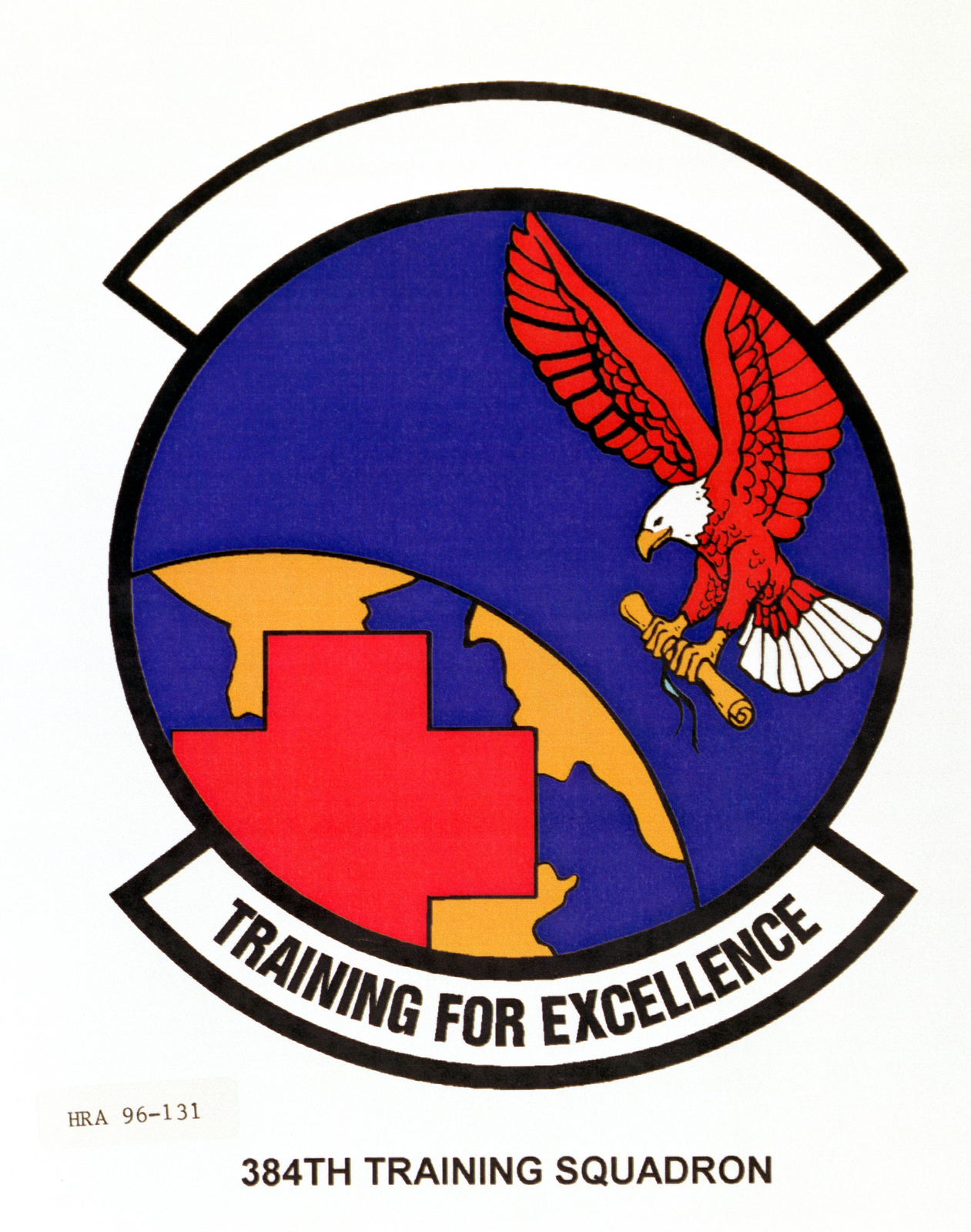 Air Force Organizational Emblem. 384th Training Squadron Exact Date Shot Unknown