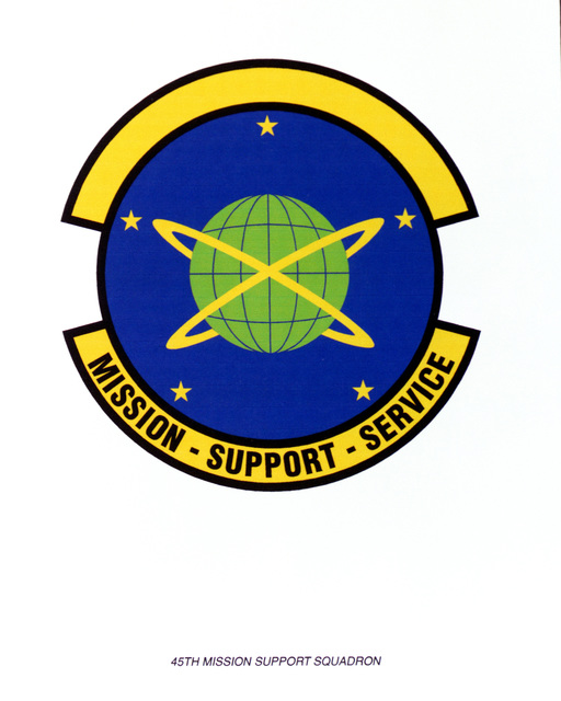AIR FORCE ORGANIZATIONAL EMBLEM 45th Mission Support Squadron Exact Date Shot Unknown