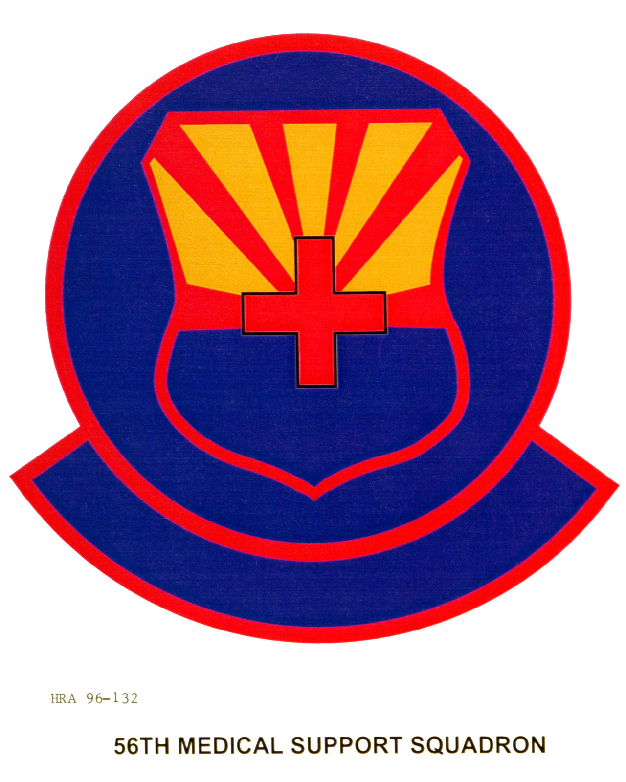 Air Force Organizational Emblem. 56th Medical Squadron Exact Date Shot Unknown