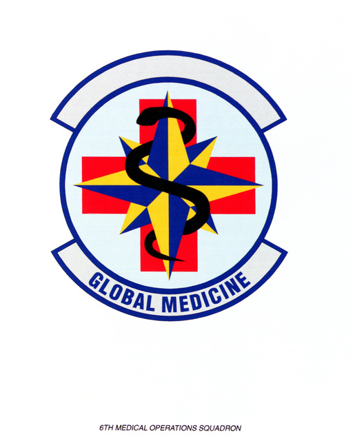 AIR FORCE ORGANIZATIONAL EMBLEM 6th Medical Operations Squadron Exact Date Shot Unknown